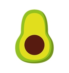 Avocado fresh vegetable isolated icon design vector