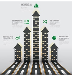 Real estate and property business infographic with vector