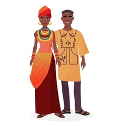 African family African man and woman couple in vector image