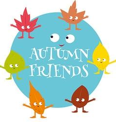 Autumn friends vector