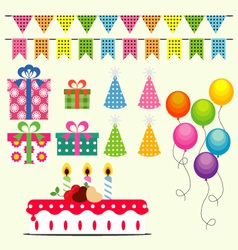 Birthday Celebration Elements vector image vector image