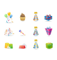 birthday icon vector image vector image