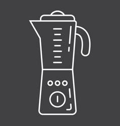 Blender line icon household and appliance vector