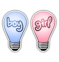 Boy and girl light vector