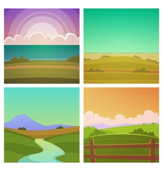 Cartoon Landscape Set vector image vector image