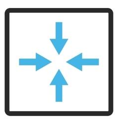 Compress arrows framed icon vector