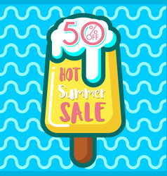 Discount voucher with text-hot summer sale and vector