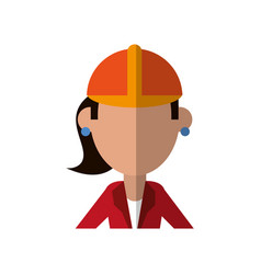 Engineer construction or factory worker icon image vector