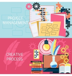 Flat design of project management vector image vector image