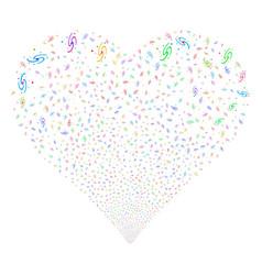 Galaxy fireworks heart vector