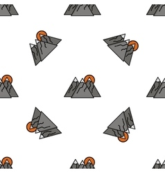 Hunting flat icon pattern vector