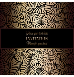 Invitation decorative golds 01 vector
