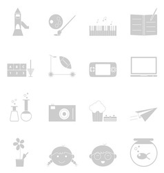 Kid activities icons set on white background vector