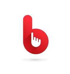 Letter b hand logo icon design template elements vector
