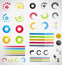 Loading icon set vector
