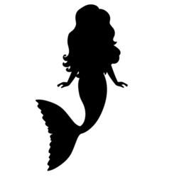 Mermaid Silhouette vector image vector image