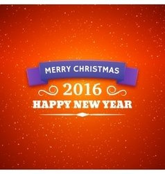 Merry Christmas and Happy New Year 2016 poster vector image vector image