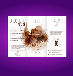 Modern splatter pattern brochure design vector
