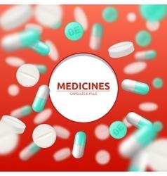 Pills medical vector