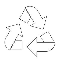 Recycling arrows in a circle the black color icon vector