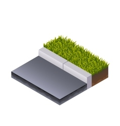 Road and grass isometric vector