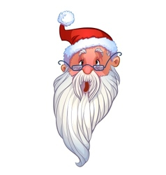 surprised face santa vector image