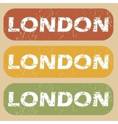 Vintage London stamp set vector image