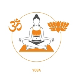 Yoga and Fitness Concept vector image