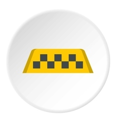 Checker taxi icon flat style vector image