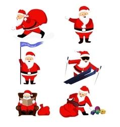 Santa clauses set for christmas vector