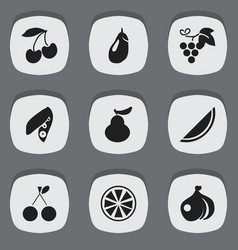 set of 9 editable berry icons includes symbols vector image
