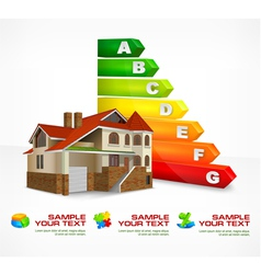 House energy rating 10 v vector