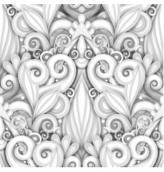 White seamless pattern with floral ornament vector