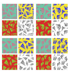 assembly of patterns in oriental style vector image