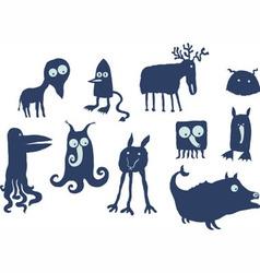 Alien animals vector