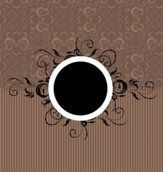 Vintage frame with seamless wallpaper vector