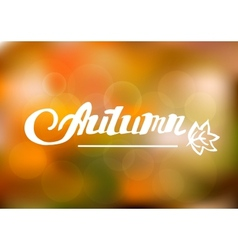 Abstract autumn background with hand drawn vector
