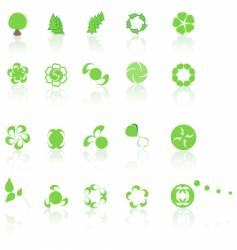 green elements vector image