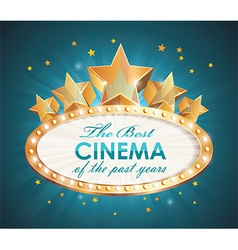 Cinema sign oval with stars vector