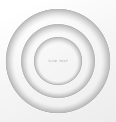 Layered circles structure vector