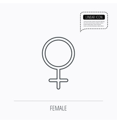 Female icon women sex sign vector