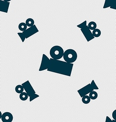 Video camera sign icon content button seamless vector