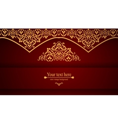 Luxurious victorian retro background pattern vector