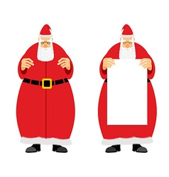 Santa claus holding blank grandfather with a grey vector
