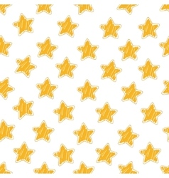 Star yellow seamless pattern vector
