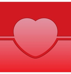 Greeting card with red heart vector