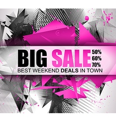 Big sale best discoount in time web banner for vector