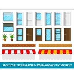 Architectural details for house vector