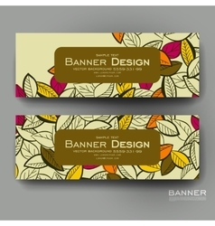 Beautiful banner template with autumn leaf vector