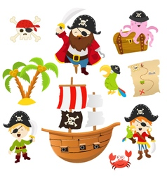 Pirate set vector